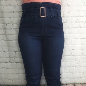 Denim - Paper bag waist jeans